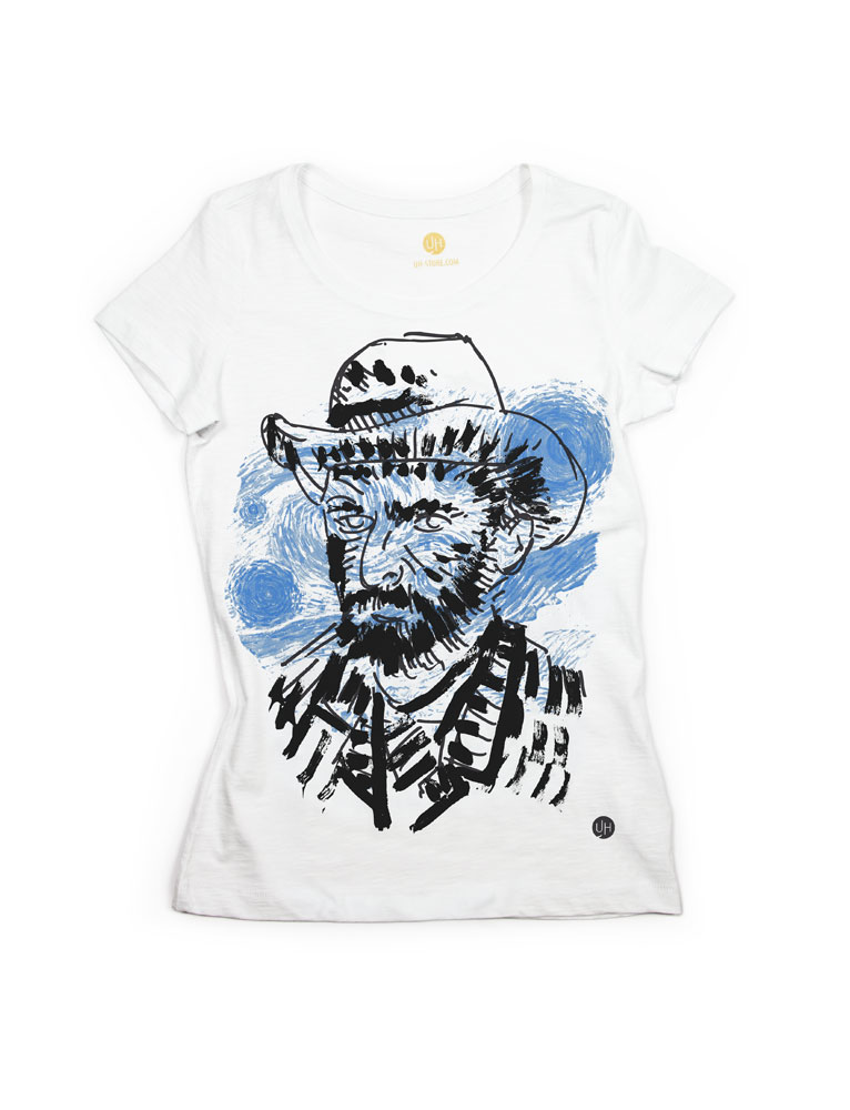 T shirt van gogh uh for Wordpress t shirt store theme free